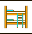 two tier wooden bed vector image vector image