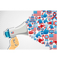 US elections politics message promotion vector image vector image