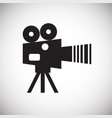 video film camera icon on white background for vector image