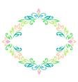 vintage rhombus frame color vector image