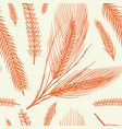 vintage wheat seamless pattern rye background vector image