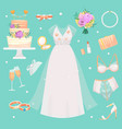wedding ceremony fashion bride dress and vector image vector image
