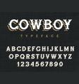 western font 001 vector image