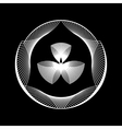 White Abstract Fractal Shape vector image vector image