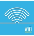 WiFi icon on blue background vector image vector image