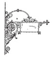 wrought-iron bracket custom brackets vintage vector image vector image