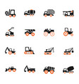 industrial transport icon set vector image