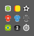 Soccer match icons Flat design vector image