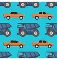 Cargo truck seamless pattern vector image