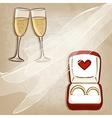 wedding rings in box vector image