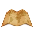 World Map on Old Paper vector image