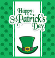 st patrick s day holiday card greeting vector image