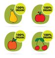 sticker of fruit organic vector image
