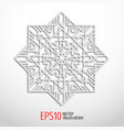 3d white geometric snowflake vector image vector image