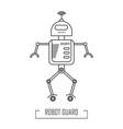 a robot guard vector image vector image
