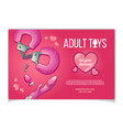 adult toys for sexual pleasure banner vector image vector image