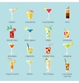 Alcohol Cocktails Icons Flat vector image vector image