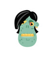 angry zombie head icon in cartoon style vector image vector image
