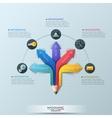 Arrow Pencil Infographic Design Template vector image vector image