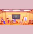 art classroom empty artist studio interior room
