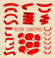 beg set of red ribbons laurels and speech vector image vector image