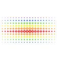 bitcoin coin spectrum halftone grid vector image vector image