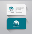 business name card with modern flat design vector image vector image