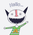 cartoon animals the cute monster character vector image vector image
