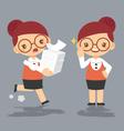 cartoon female teacher eps10 vector image vector image