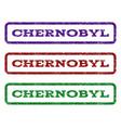 chernobyl watermark stamp vector image vector image