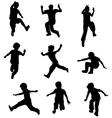Children jumping vector image vector image