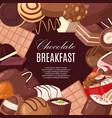 chocolate breakfast banner vector image