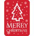 christmas greeting with christmas tree vector image vector image