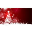 christmas tree and light with bokeh design vector image