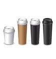 cofee cup set vector image vector image