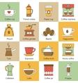 Coffee icons flat vector image vector image