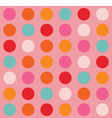 Color Big Dots Pattern vector image