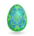 colorful single easter egg with pattern vector image vector image