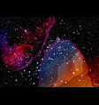 cosmic galaxy watercolor background with stardust vector image