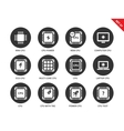 Cpu icons on white background vector image vector image
