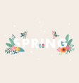 cute spring web banner with birds colorful easter vector image