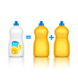 detergent advertising realistic composition vector image