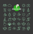 different healthcare icons collection web vector image