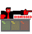 Dismissed Infographics for dismissal Red angry Bos vector image vector image