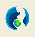 earth day paper cut out mother nature concept vector image vector image