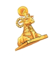 Fantastic Golden sheep from tales vector image