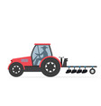 farm tractor isolated on white background vector image