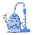 finger vacuum cleaner character cartoon vector image