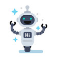 funny robot in flat vector image