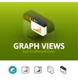 Graph views icon in different style vector image vector image